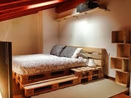palette de bois lit