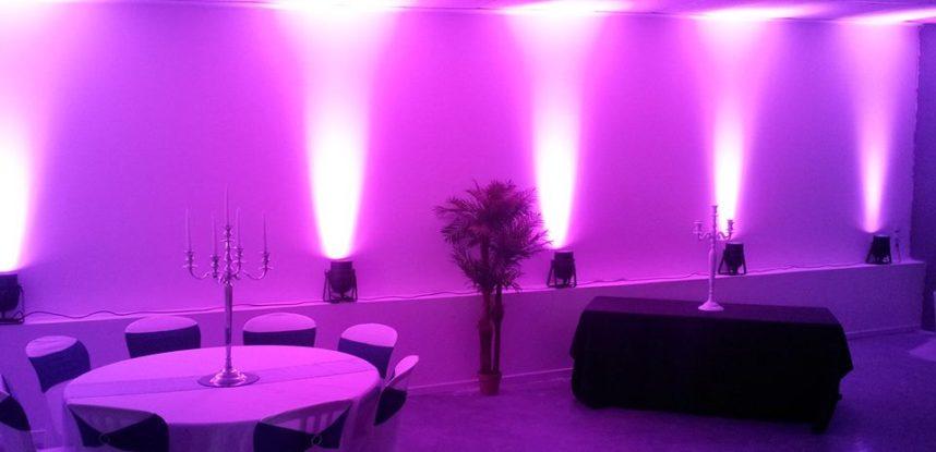 decoration salle mariage lumiere